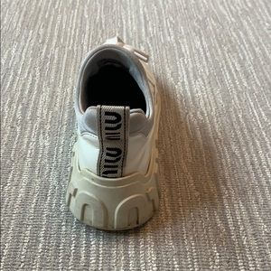 Miu miu patent leather white platform sneaker